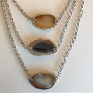 Jewelry - Adjustable 3 tier layered geode boho necklace